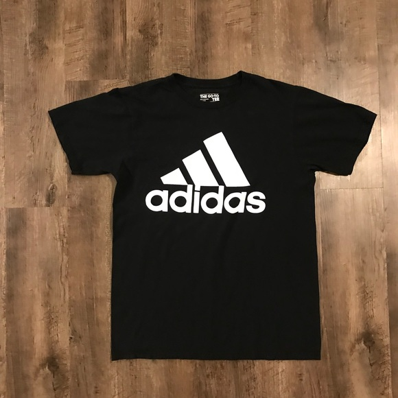 Adidas camisetas poshmark simple negro t shirt